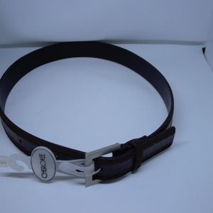 Cherokee Leather Belt Women's NWT Small Dark Brown